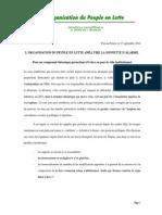 L'ORGANISATION DU PEUPLE EN LUTTE (OPL) TIRE LA SONNETTE D'ALARME.