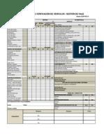 Check List de Vehículo y Conductor