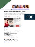 MilfBerry.com Review - Read This Review Of MilfBerry.com
