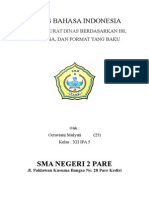 TUGAS BAHASA INDONESIA - Menulis surat dinas berdasarkan isi, bahasa, dan format yang baku.doc
