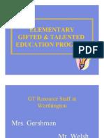 gt program orientation 2014