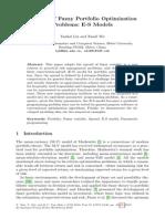 Chapter 6 a Class of Fuzzy Portfolio Optimization Problems; E-S Models