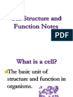 cell structure and function rd