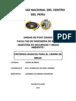 Criterios Basicos Para El Cierre de Minas - Trabajo 4
