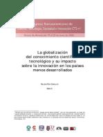 La Globalizacion Del Conocimiento Cientifico y Su Impacto Sopbre Los Paises Menos Desarrollados