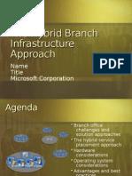 Hybrid Branch Infrastructure Solution