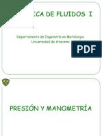 Mecánica I - Presión y Manometría