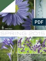 Timber Press Spring 2015 catalog