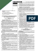 LEY 28024 - LEY QUE REGULA LA GESTIÓN DE INTERESES EN LA ADMINISTRACIÓN PÚBLICA (LOBBY LEGAL)