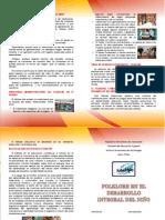 Diptico - Folklore en El Desarrrollo Integral Del Niño