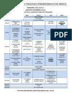 STPM - Horarios Teología 2014-2015-17