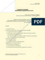 Emisión de Informes Proc. Admi