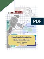 Manual Para La Formulaci n y Evaluaci n de Proyectos FONCREI