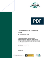 Characterisation of Salmonella 2011 Journal