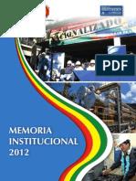Memoria Institucional 2012