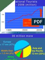 cifras mundiales turismo 1995 - 2006 OMT