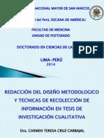 REDACCIÓN DEL DISEÑO METODOLOGICO  12-08-2014.ppt