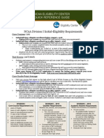 ncaa eligibility quick reference sheet