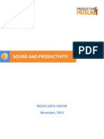 Research Sound Productivity