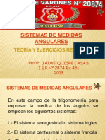 Sistema de Medidas Angulares Teoría y Ejercicios (1)
