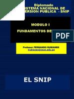 Fundamentos Del Snip y Programa de Inversiones - Snip Lima - 2014 Final