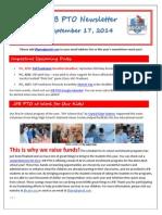 JFB PTO Newsletter 09-17-14