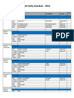 GDI Schedule