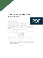 Three Dimensional Geometry
