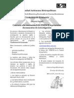 Convocatoria Revista Cuadernos de Economia 2014