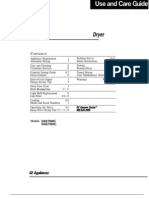 GE Dryer Use and Care Manual DDG7980
