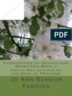 Expressions of Definitions Redefined Book 3 Poetic Reflections On The Book of Proverbs