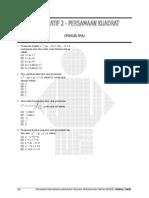 Tf 2 - Persamaan Kuadrat