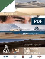 Reglement Moto Quad Dakar 2013 VES