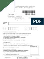 IGCSE MATHS 580_2005_qp_3