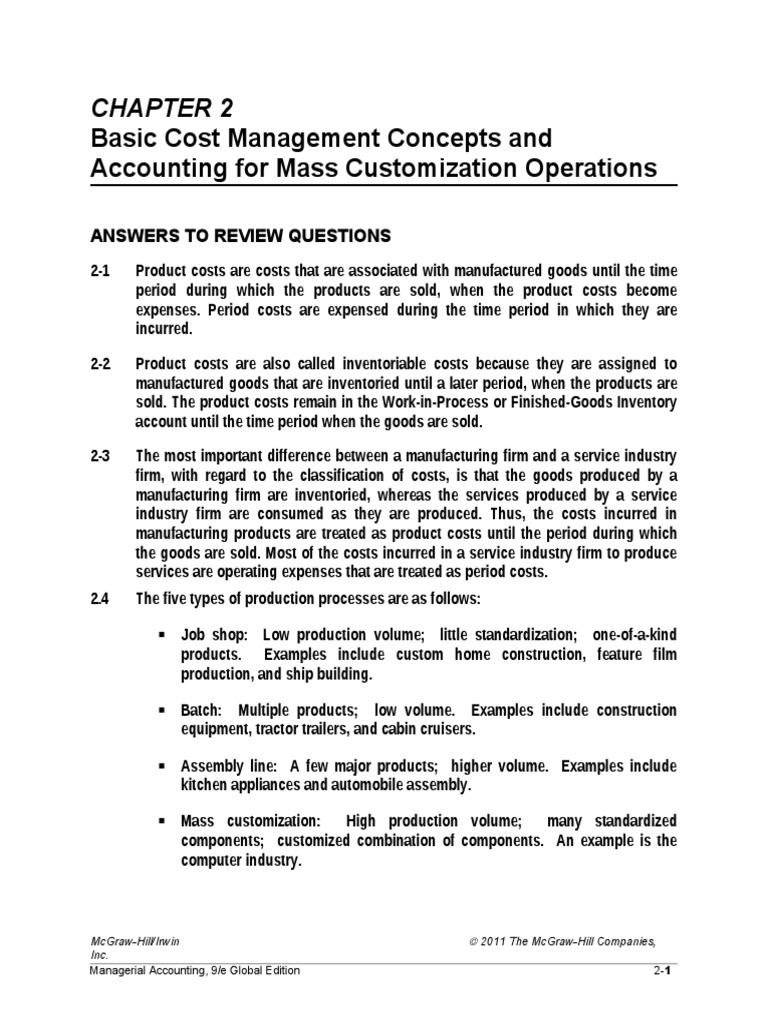 managerial accounting chapter hilton solution Chapter 1 managerial accounting and the business (unofficial cma solution) 2 as discussed above, the ethical course of action would be for perlman to.