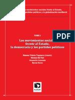 Los Movimientos Sociales Frente Al Estado, La Democracia y Los Partidos Politicos