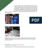 tugas kerajinan tekstil