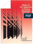 1 Design of Fire Resistance Precsat Pre Stressed Concrete PCI