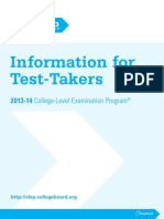 Clep Information for Test Takers Booklet c