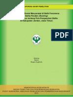 Konstruksi Sosial Masyarakat di Balik Fenomena  Balita Pendek (Stunting) (Studi Kasus tentang Pola Pengasuhan Balita  di Kabupaten Jember, Jawa Timur)