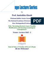 Challenge Lecture (Prof. a. Ghosh)