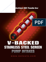 Evolution V-Backed Pump Intake Screen Brochure