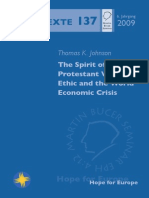 Protestant Work Ethic and the Economic Crisis