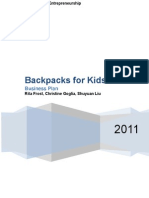 11.27 Backpacks for Kids Business Plan