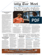 The Daily Tar Heel for Sept. 18, 2014