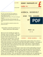 America Roosevelt and the Causes of the Present War
