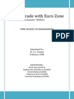 Project on Indian Trade With Euro Zone