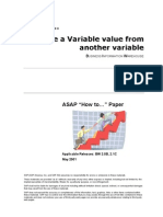 How to... Derive a Variable Value From Another Variable