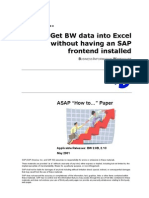 How to... Get BW Data Into Excel Without Having SAP Frontend