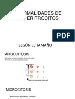 Anormalidades de Los Eritrocitos